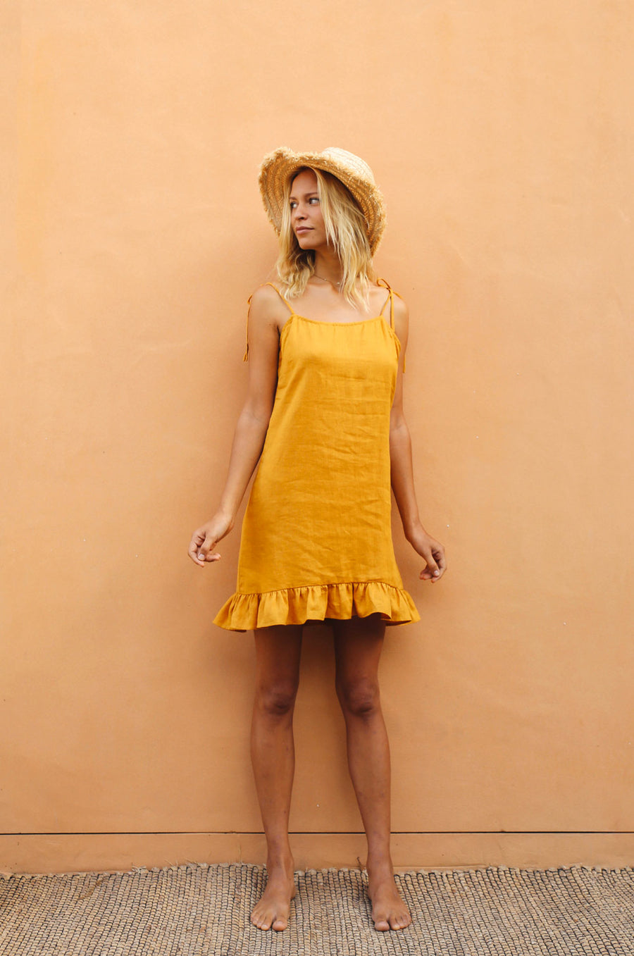 JAIPUR Dress - turmeric linen