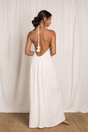 THALASSA Maxi Dress - white ramie