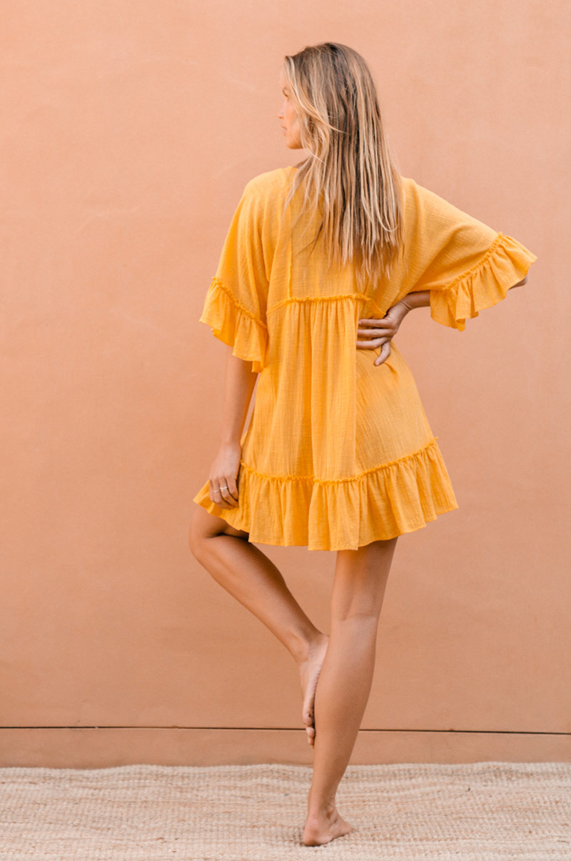SUNRISE Dress - sunshine yellow cotton