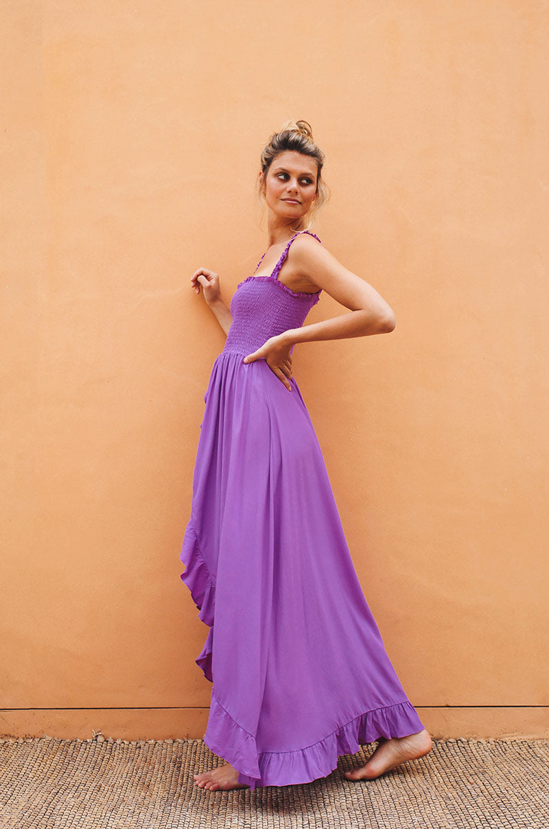 ESPERANCE Maxi Dress - purple