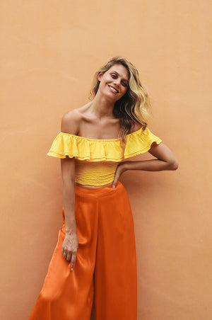 SUNSHINE Top - yellow cotton