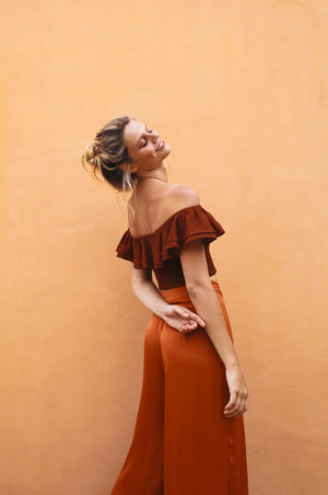 THISTLE COVE Pants - burnt orange