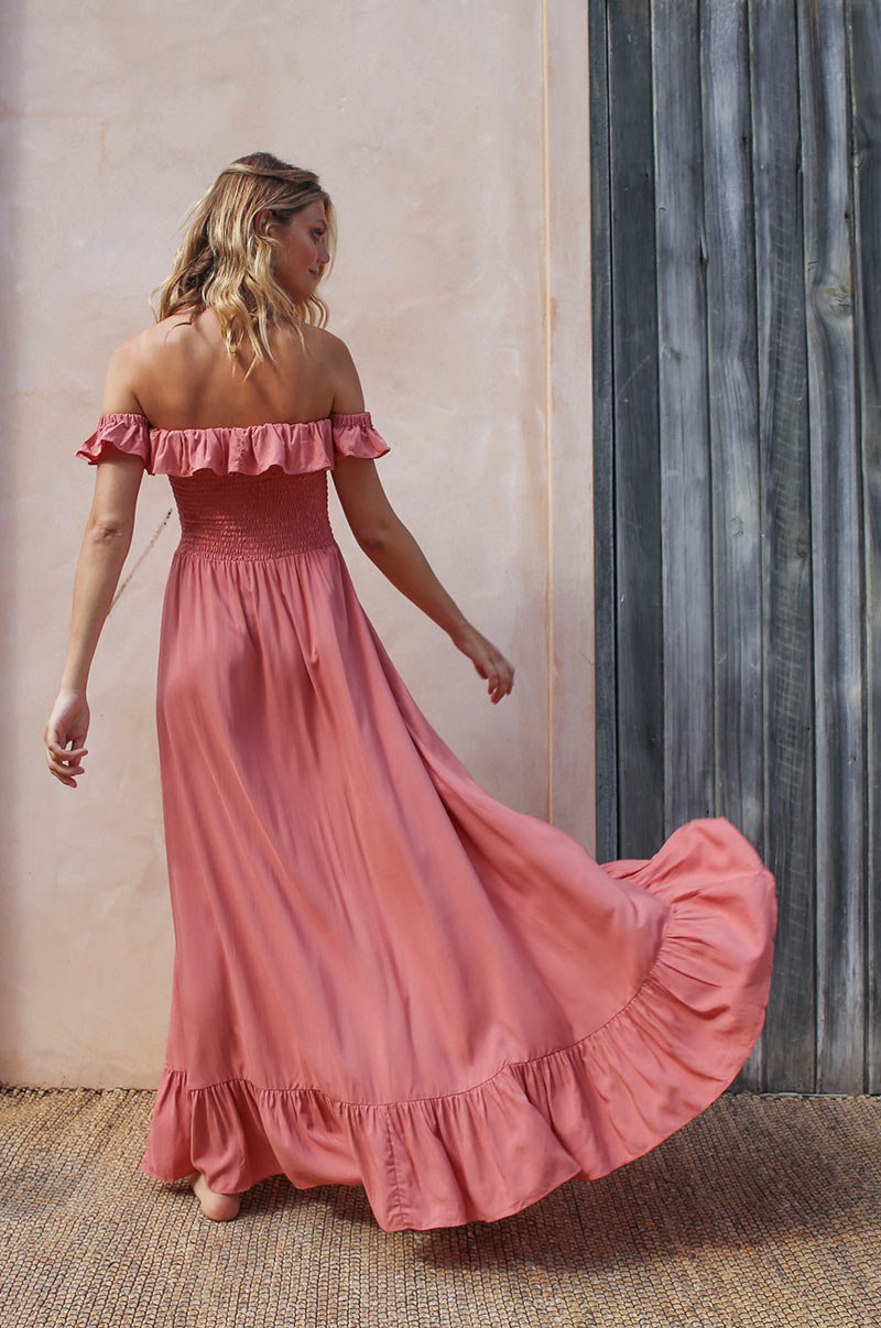 UDAIPUR Dress - dark blush ecovero