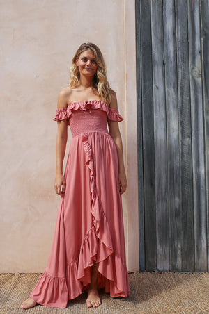 UDAIPUR Dress - dark blush