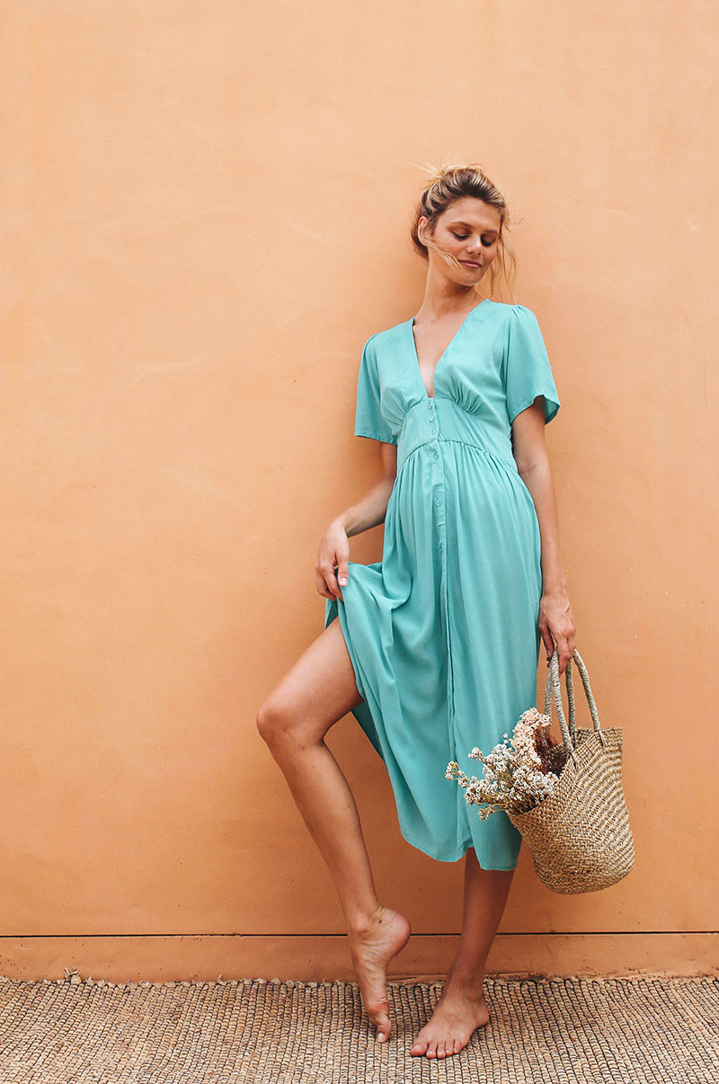 BLUE HAVEN Midi Dress - dark turquoise