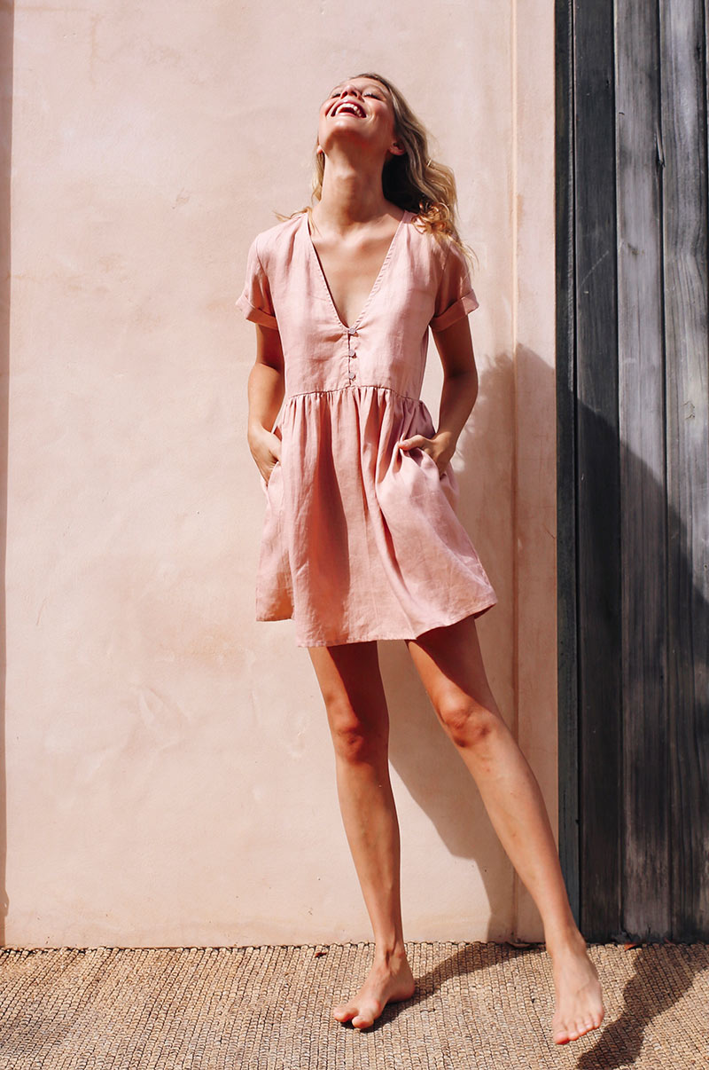 SUNCHASER Dress - rose linen