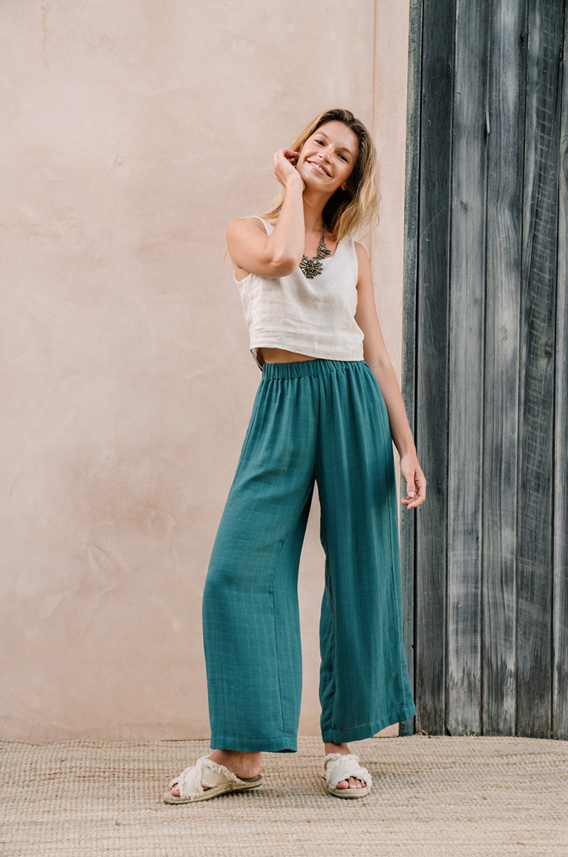 BREEZE Pants - teal cotton