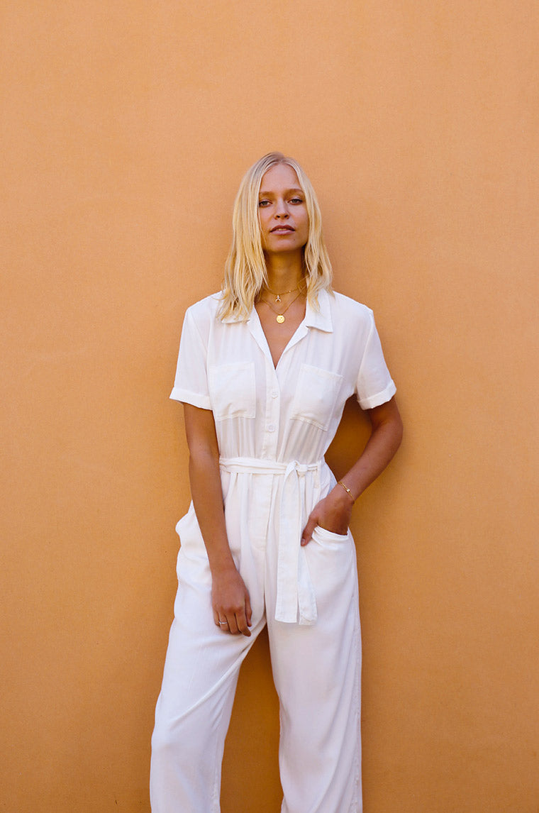 HVAR Jumpsuit - off-white tencel