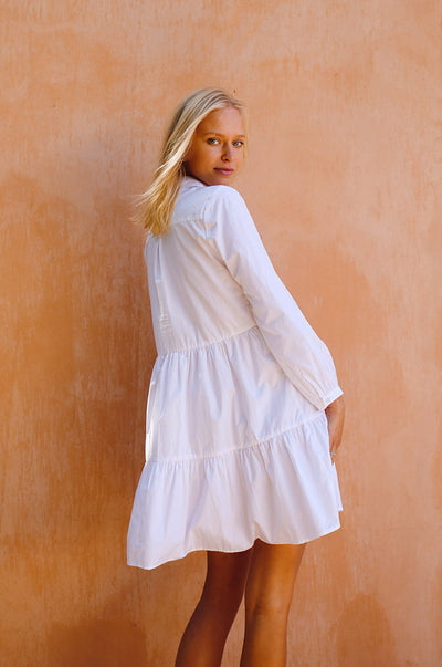 SANTORINI Dress - white cotton