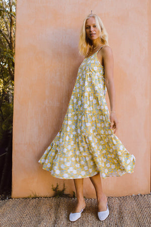 SARDINIA Dress - marguerite floral cotton