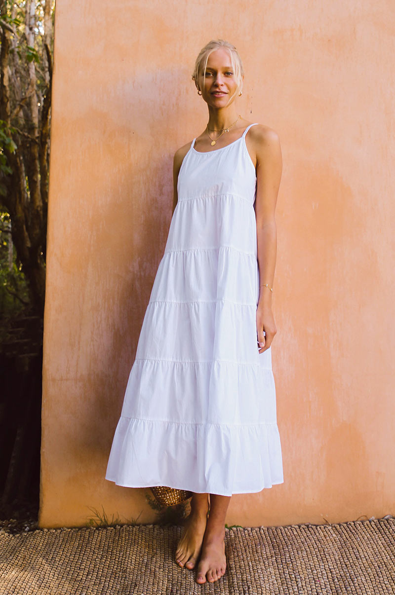 SARDINIA Dress - white cotton