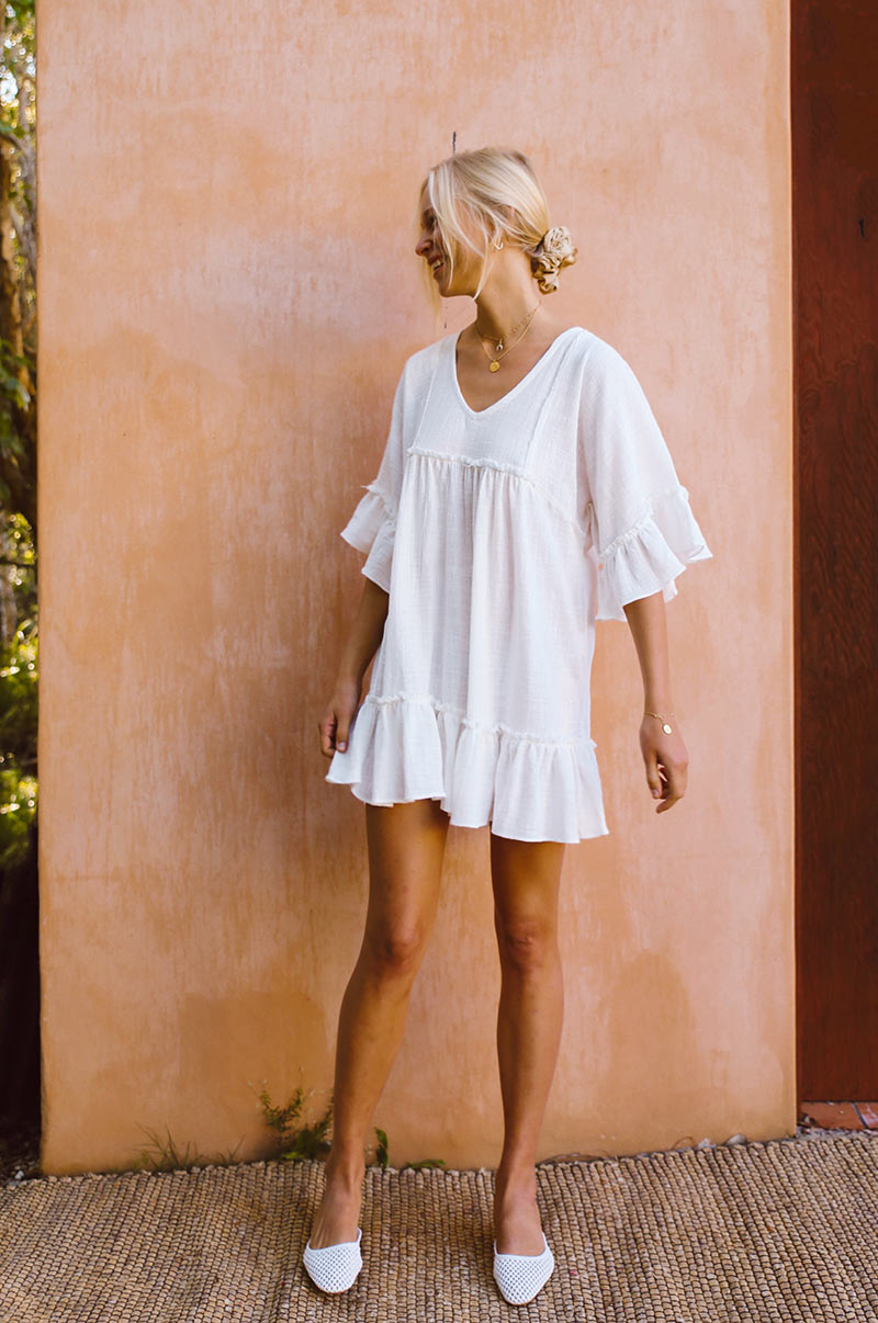 SUNRISE Dress - white cotton