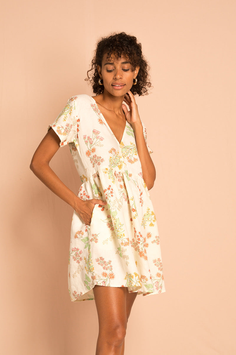 SUNCHASER Dress - wildflower linen