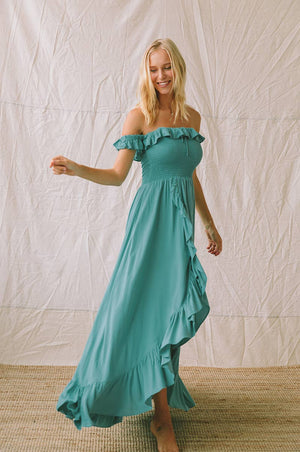 UDAIPUR Dress - dark turquoise