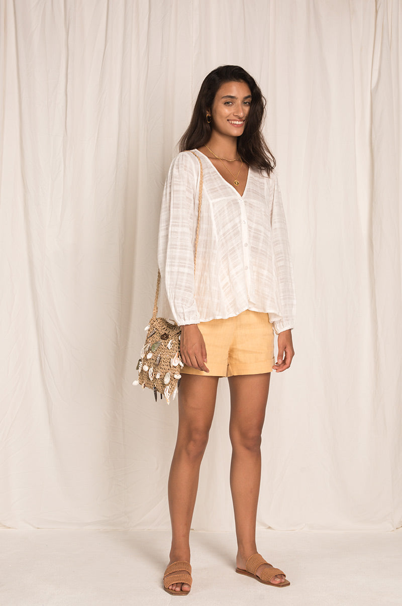 CABANA Blouse - white cotton