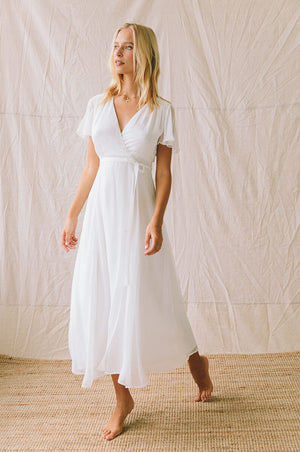 ZEPHYR Midi Dress - white