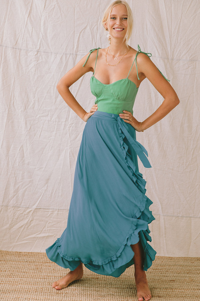 SEASHELL Top - sea green