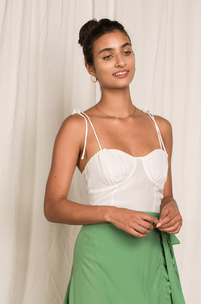 SEASHELL Top - white