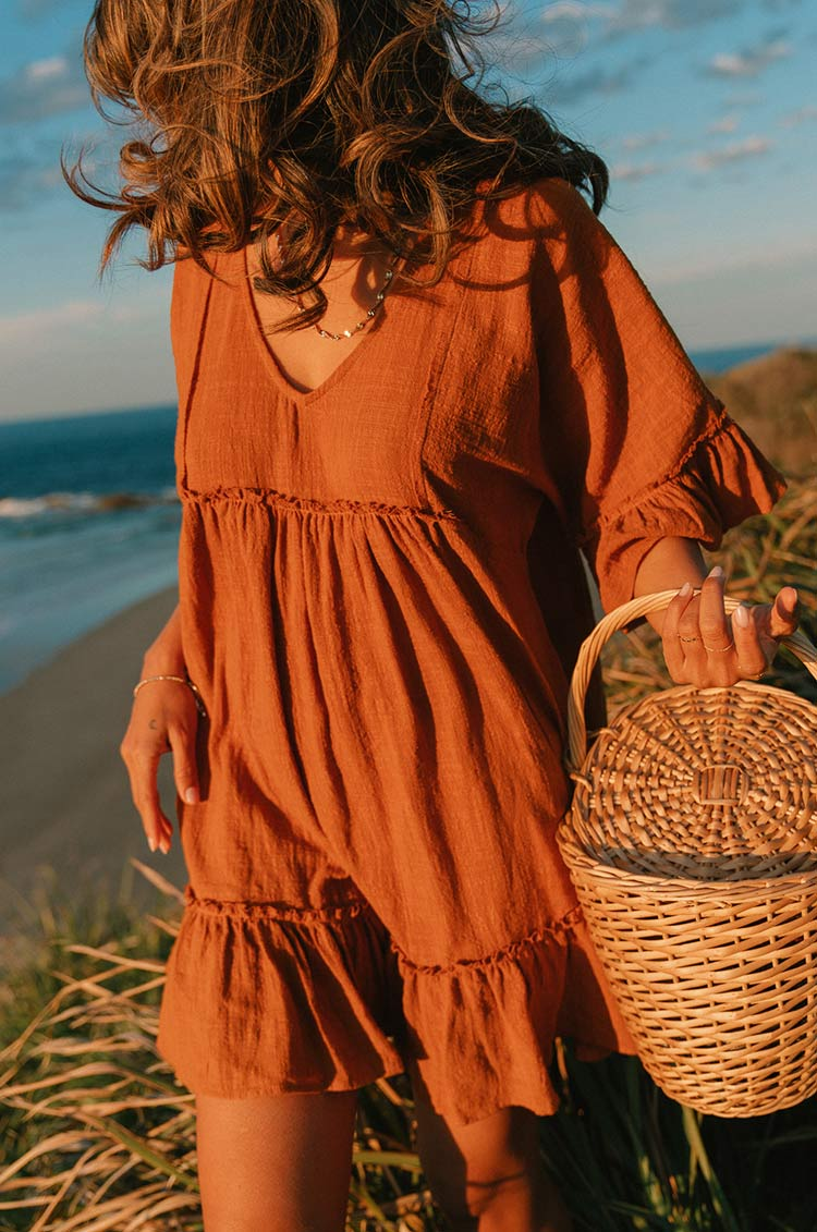 SUNRISE Dress - ochre cotton