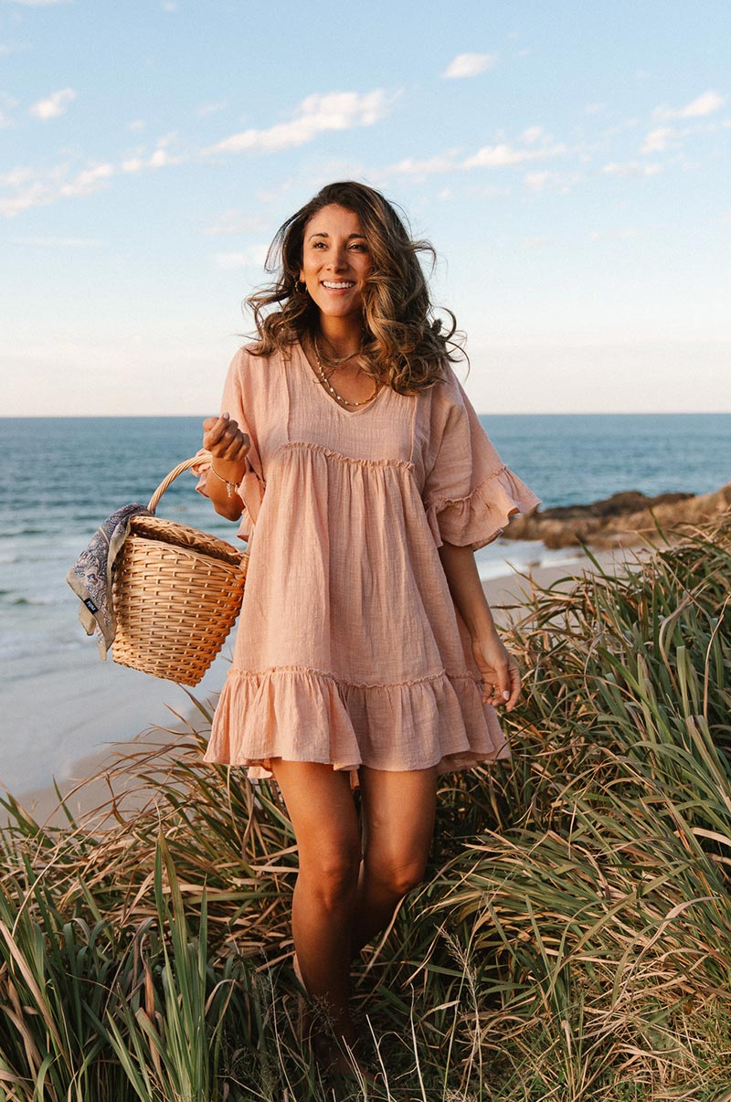 SUNRISE Dress - rose cotton