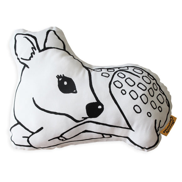 HOMELY CREATURES FAWN CUSHION