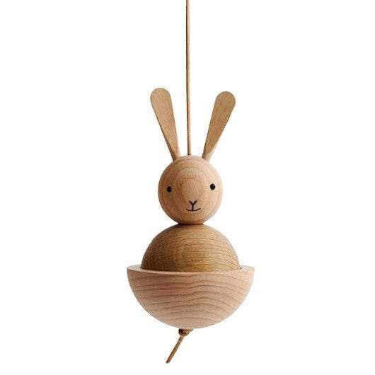 Rabbit Wooden Ornament