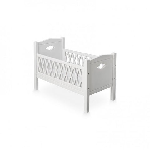 CAM CAM HARLEQUIN DOLL'S COT BED - WHITE