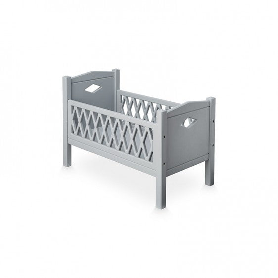 CAM CAM HARLEQUIN DOLL'S COT BED - GREY