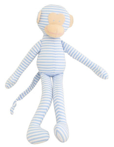 Blue Cuddle Monkey Soft Toy
