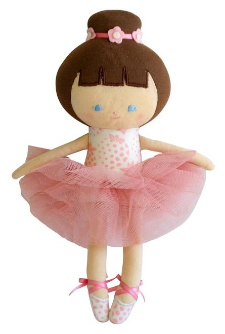 Baby Ballerina Strawberry Ivory Doll