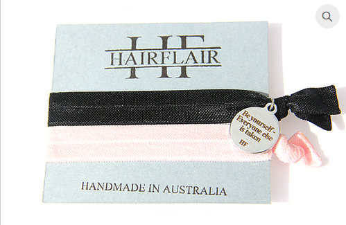 Hair Flair Charm Tie - Be Yourself
