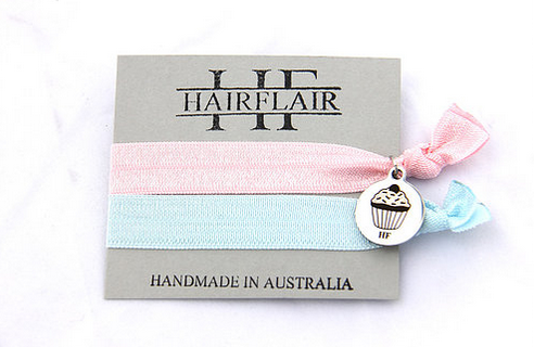 Hair Flair Charm Tie - Cupcake