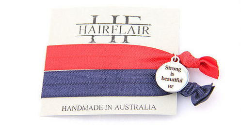 Hair Flair Charm Tie - Strong is Beautiful