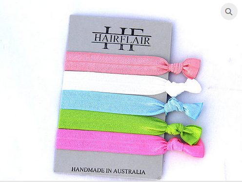 HAIR FLAIR COLOUR TIES - CANDY SELECTION