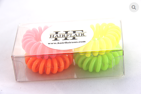 HAIR FLAIR HAIR COILS- NEON