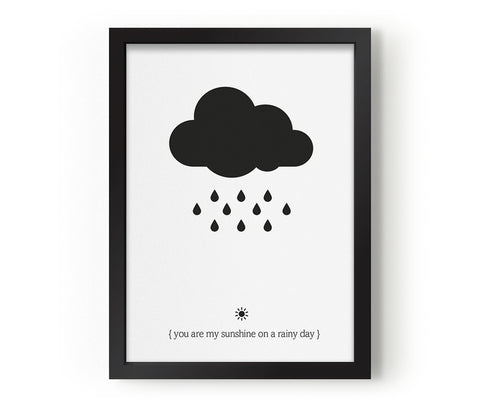 EEF LILLEMOR BLACK CLOUD PRINT A3