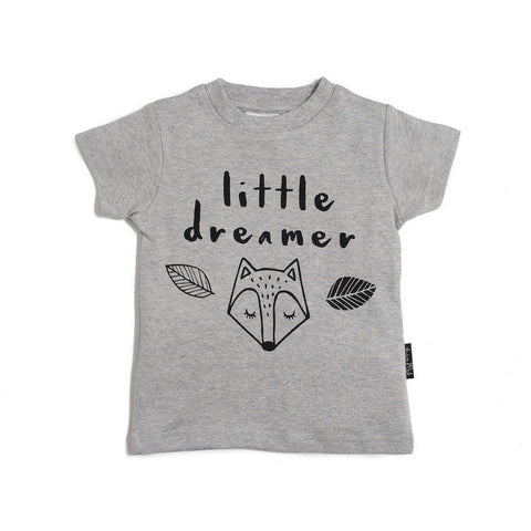 ASTER & OAK LITTLE DREAMER T-SHIRT - GREY MARLE