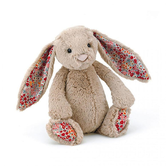 Bashful Blossom Beige Bunny Soft Toy - Medium