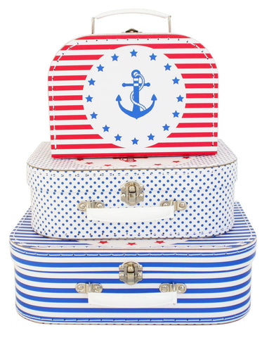 ALIMROSE CARRY SUITCASE SET OF 3 - NAUTICAL