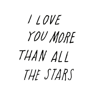 SHANNA MURRAY I LOVE YOU MORE THAN ALL THE STARS WALL DECAL
