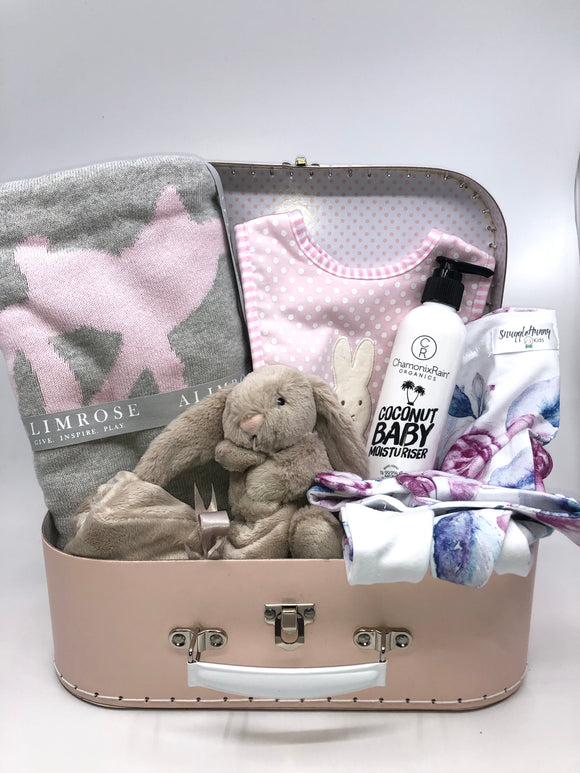 ** NEW** Pink Lilac New Baby Gift Basket