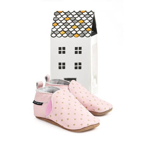 PRETTY BRAVE BLUSH WITH DOTS SLIP-ON