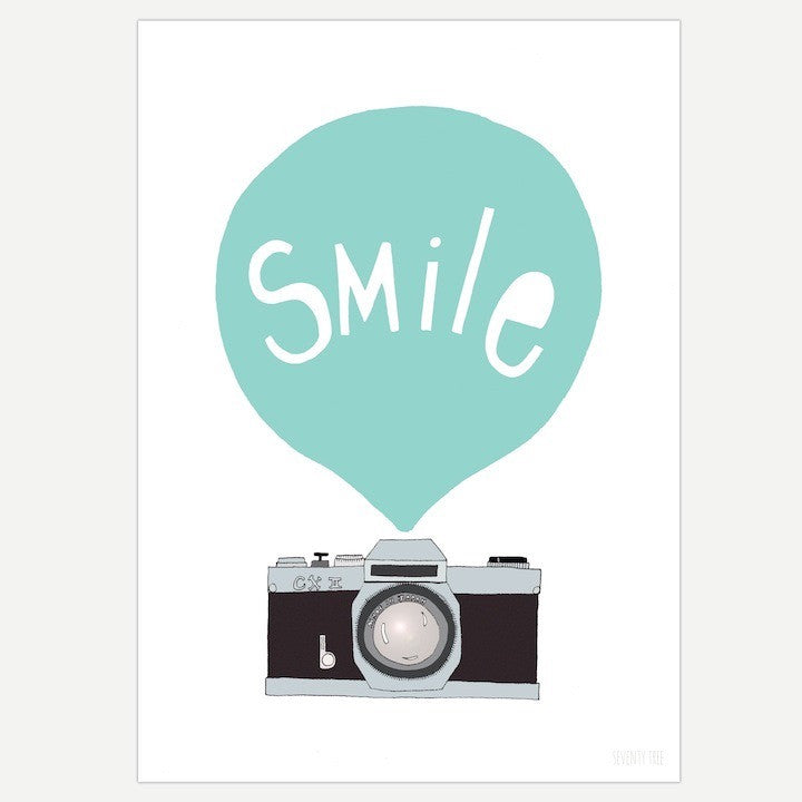 SEVENTY TREE SMILE MINT PRINT A3