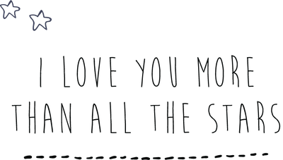 HELLO LITTLE BIRDIE I LOVE YOU MORE THAN ALL THE STARS WALL DECAL