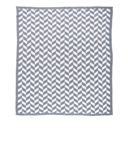 KATE & KATE GREY BABY BLANKET 'THE JAGGER'