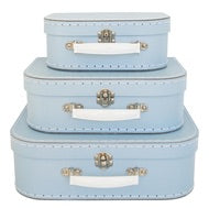 Pale Blue Suitcase Set
