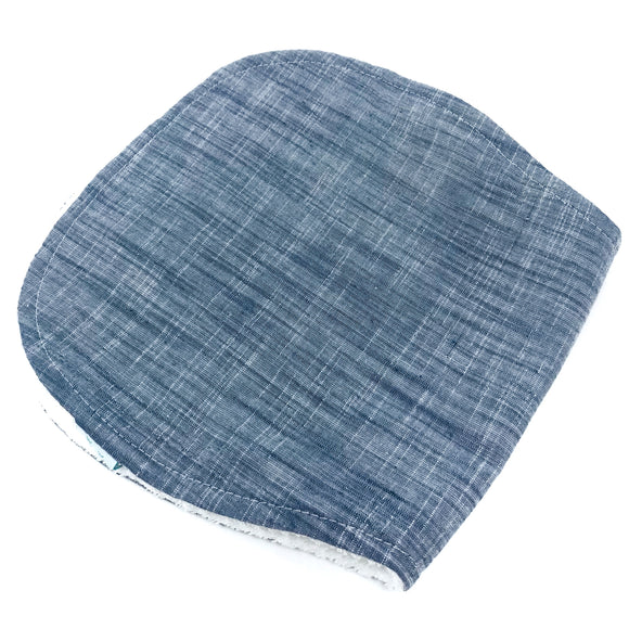 Indigo Burp Cloth