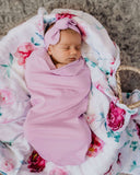 Butterfly- Snuggle Swaddle and Topknot set