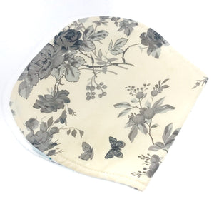 Black and White Roses Burp Cloth