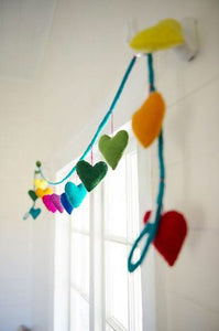 Heart shaped felt garland
